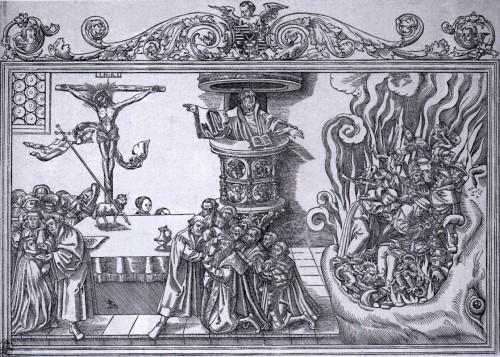 Lutero predicando, 1550, Lucas Cranach el Joven. Fuente: http://www.wga.hu/html_m/c/cranach/lucas_y/y_luther.html