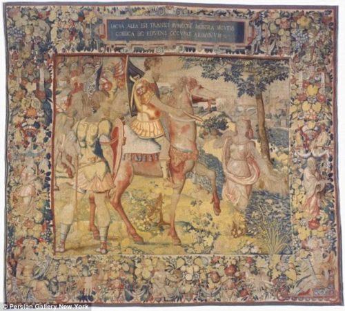 Imagen del tapiz procedente de la Persian Gallery de Nueva York ©.